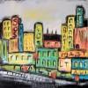 Vielfalt, Malerei, Häuser, Stadt