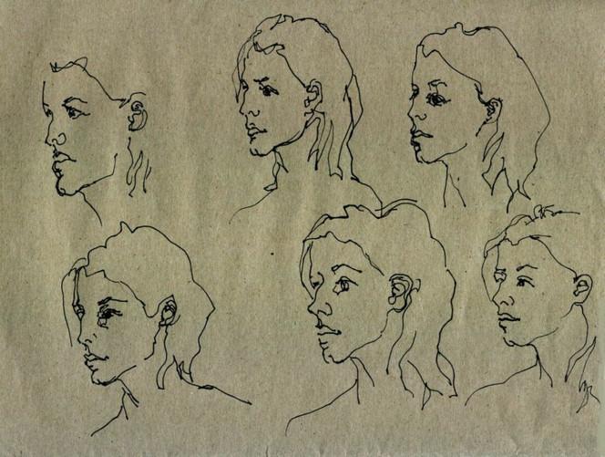 Skizze, Zeichnen, Portrait, Zeichnung, Zeichnungen