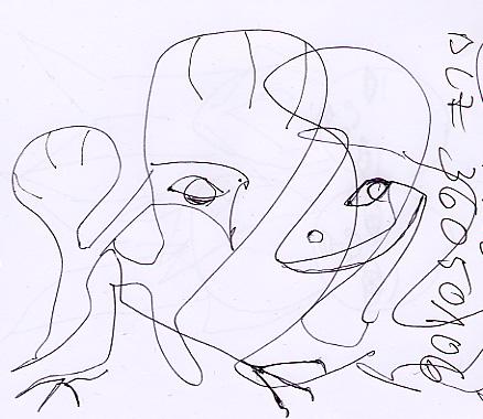 Taube, Schwan, Notiz, Flügelfechten, Zeichnung, Zeichnungen