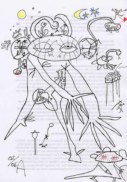 Riese, Depression, Zeichnung, Monster, Stimmung, Angst