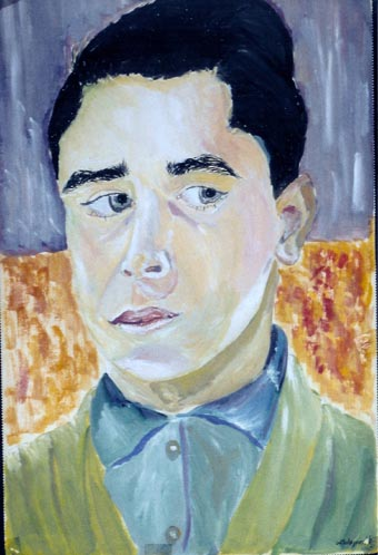 Malerei, Portrait, Selbstportrait,