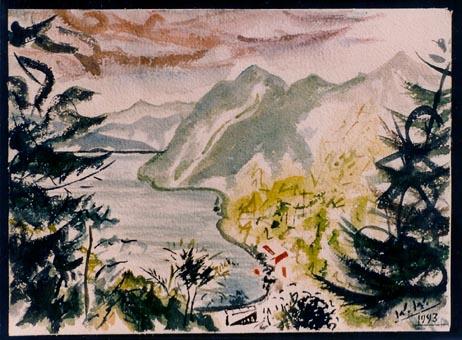 Landschaft, Malerei, Blick