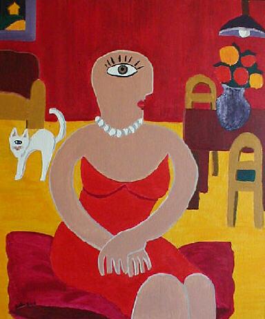 Malerei, Selbstportrait, Abstrakt