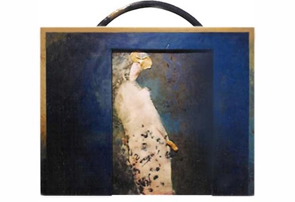 Malerei, Abstrakt, Mond