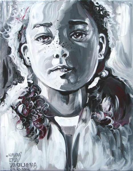 Zopf, Acrylmalerei, Licht, Malerei, Figural, Mädchen