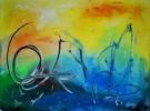 Malerei, Abstrakt, Licht, Tanz