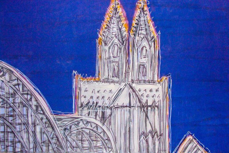 Landschaft, Malerei, Köln