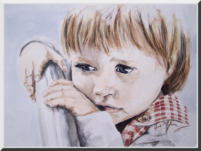 Mädchen, Portrait, Traum, Figural, Kinder, Malerei