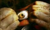 Mund, Augen, Digital, Surreal