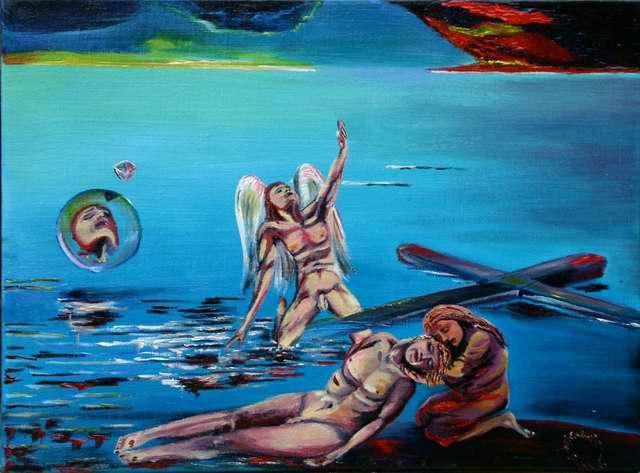 Malerei, Engel, Tod, Religion, Surreal, Sterben