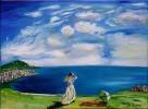 Wolken, Weitsicht, Malerei, Landschaft