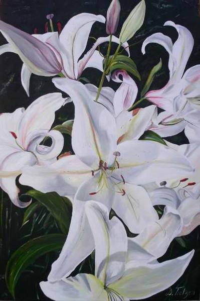 Klar, Geist, Weiß, Blumen, Malerei, Sommer
