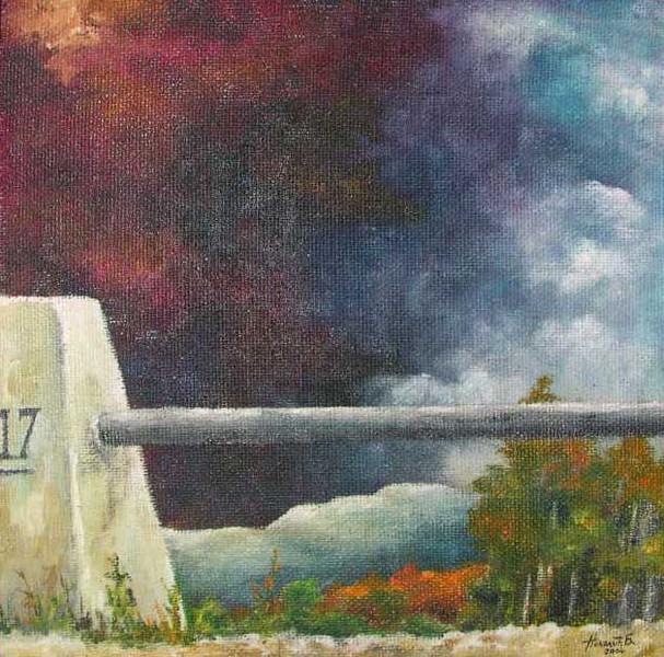 Malerei, Landschaft, Blick