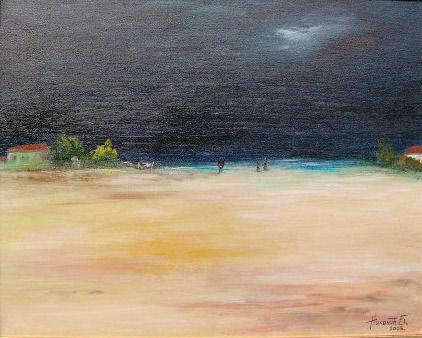 Landschaft, Malerei, Sturm