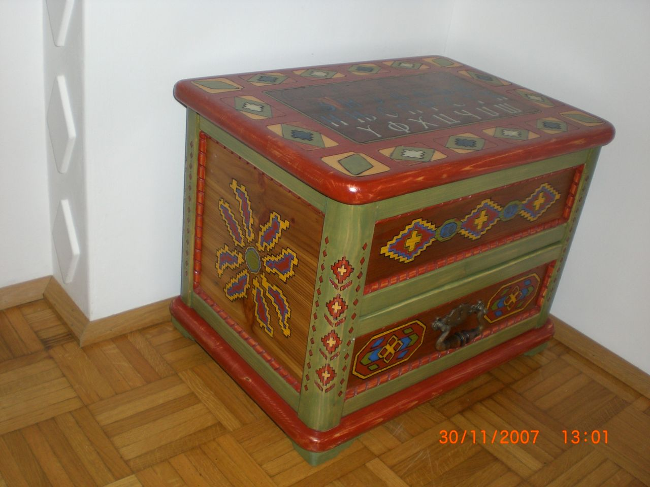 bild truhe holz kunsthandwerk von bozo nikolic bei kunstnet. Black Bedroom Furniture Sets. Home Design Ideas