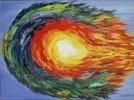 Malerei, Feuerball, Surreal