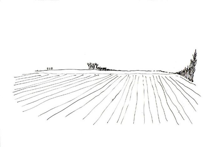 Landschaft, Zeichnung, Zeichnungen, Weit