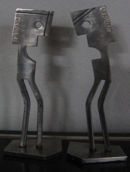 Stahl, Eisenfigur, Eisen zart, Stahlskulptur, Kunsthandwerk,