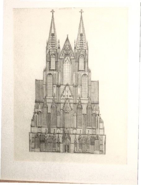 Zeichnung, Zeichnungen, Konkret, Kölner, Dom