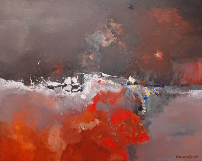 Acrylmalerei, Abstrakt, Natur, Malerei