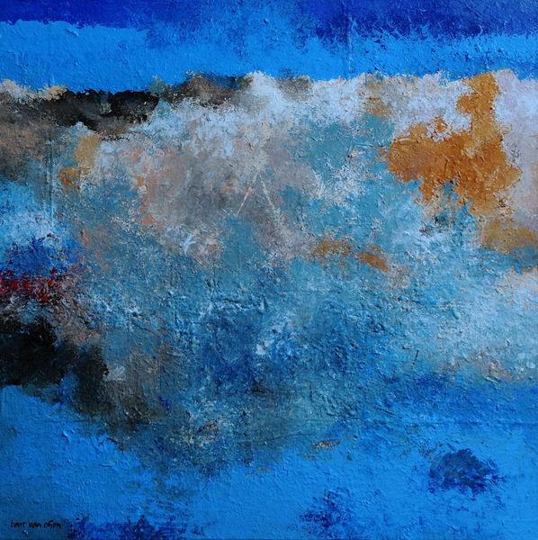 Weiß, Kreta, Berge, Lefka, Ori, Malerei