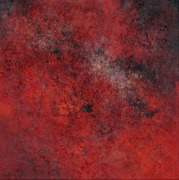 Galaxie, Abstrakt, Oijen, Gemälde, Bart, Malerei