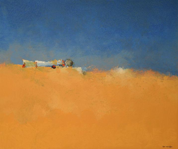 Himmel, Gelb, Wüste, Natur, Blau, Malerei