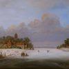 Winter, Eis, Holländische malerei, Landschaft