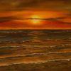 Sonne, Abend, Wattenmeer, Welle