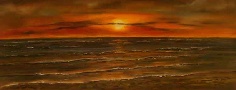 Abend, Wattenmeer, Sonne, Sonnenuntergang, Meer, Nordsee