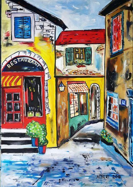 Camargue, Haus, Malerei,