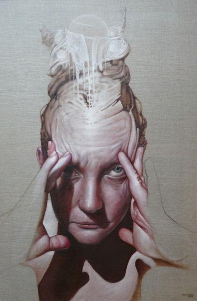 Frau, Malerei, Surreal, Portrait, Inspiration,