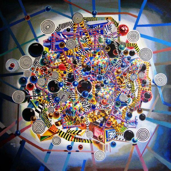 Gegenwartskunst, Expressionismus, Abstrakt, Surreal, Acrylmalerei, Kinetik