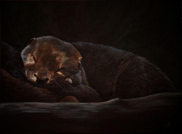 Realismus, Traum, Tierwelt, Gemälde, Tiere, Acrylmalerei