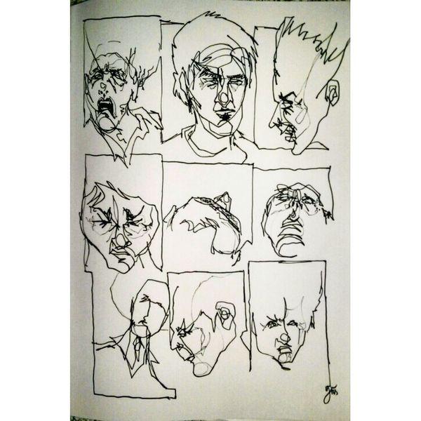 Oneliner, Zeichnungen