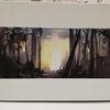Aquarellmalerei, Hinterhof, Herbst, Aquarell
