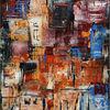 Struktur, Abstrakt, Acrylmalerei, Spachtel