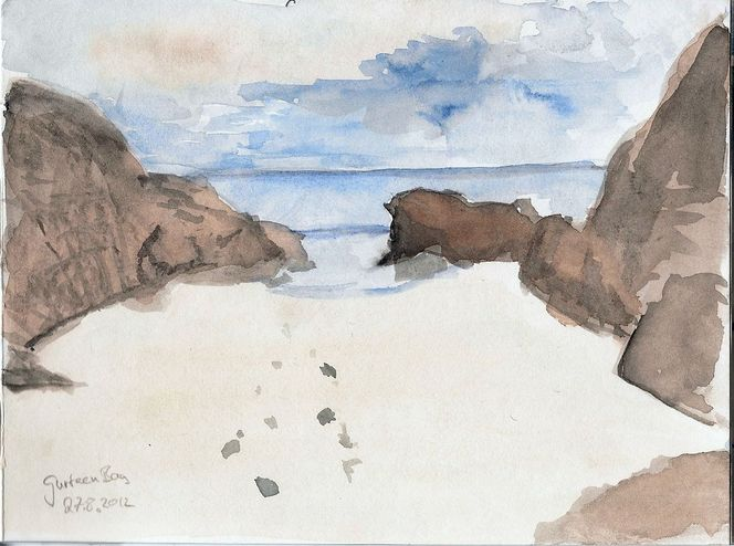 Gurteen bay irland, Aquarell