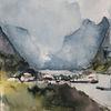 Lofoten, Meer, Berge, Norwegen