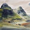 Schottland, Highlands, Glencoe, Aquarell