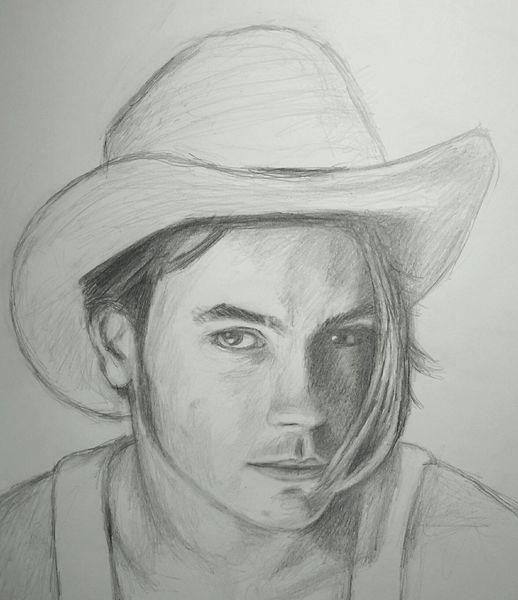 Zeichnung, Fluss, Hut, Bleistiftzeichnung, Zeichnungen