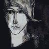 Gesicht, Nachsehen, Portrait, Schwarzweiß