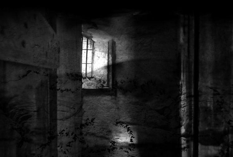 Gemäuer, Schwarzweiß, Schatten, Licht, Fotografie