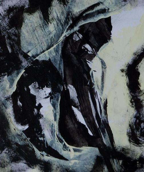 Schwarz weiß, Elfenbein, Malerei