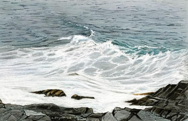 Felsenküste, Neuseeland, Meer, Wasser, Strand, Bewegt