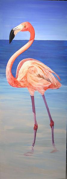 Vogel, Flamingo, Meer, Wasser, Malerei