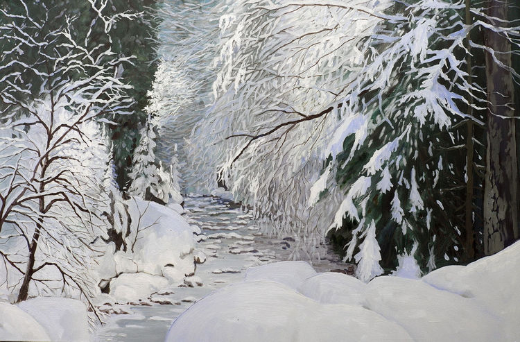 Kalt, Eis, Winter, Wasser, Schnee, Bach