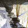 Bach, Schnee, Sonne, Baum