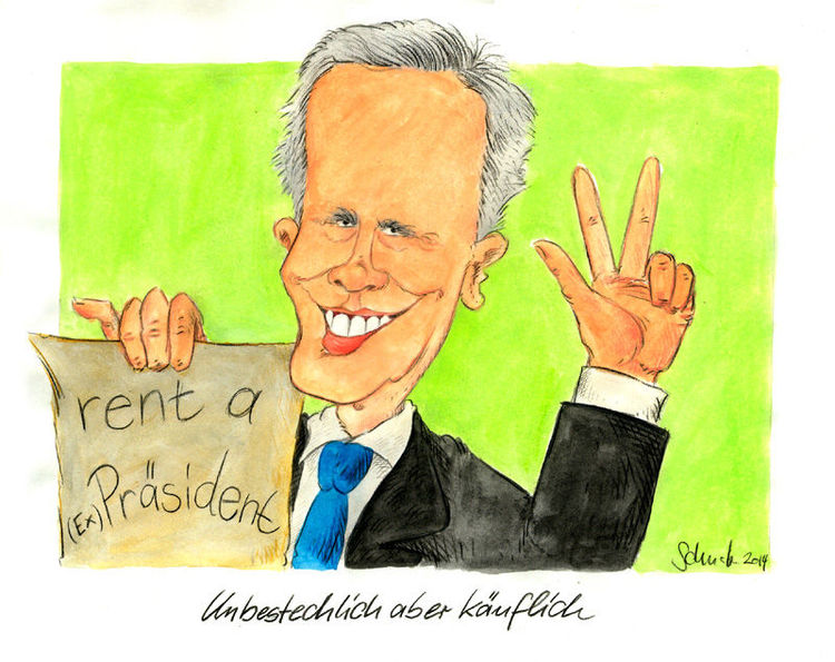 Cartoon, Deutschland, Wulff, Karikatur, Politik, Zeichnungen