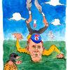 Lanze, Frankreich, Cartoon, Armstrong